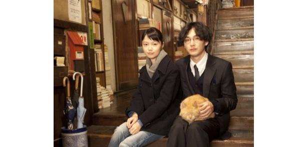 『舟を編む』に出演する宮崎あおいと松田龍平