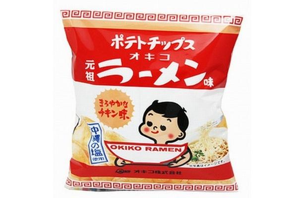 沖縄のインスタントラーメンの代名詞「オキコラーメン」味のポテトチップス