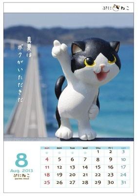"""【写真を見る】海でハジける8月の""""ぷにねこ"""""""