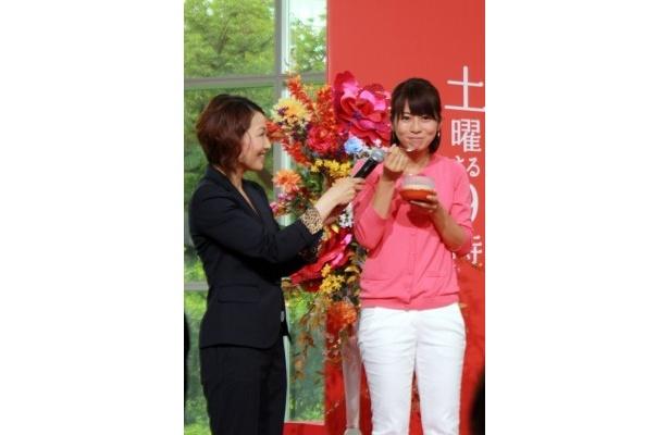 【写真】北川特製茶わん蒸しは、久保田直子アナいわく「幸せいっぱいになれるお味です」