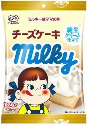 今度のミルキーはコクがあるのにさっぱり「チーズケーキ」味!
