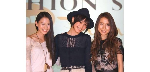 公開記念プレミアムイベントに登場した河北麻友子、本田翼、May J(写真左から)