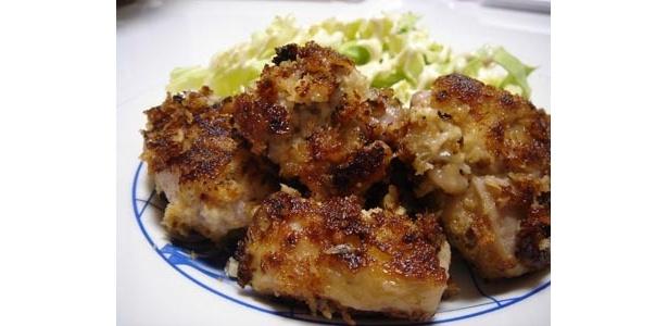 男の料理こと「チキンのマヨネーズ衣焼き」