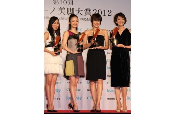 国民的美少女も受賞!2012年の美脚大賞は宮崎香蓮、上戸彩、吉瀬美智子、賀来千香子