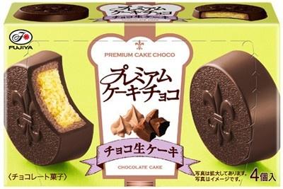 カカオが香るビターチョコ「プレミアムケーキチョコ(チョコ生ケーキ)」(210円)