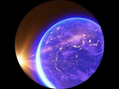 セガトイズ「アースシアター」では満天の星空と幻想的な世界感を描いた本格的な映像を楽しむことができる
