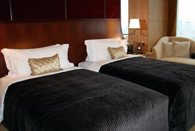 ベッドの高さもありフカフカで気持ちいい!