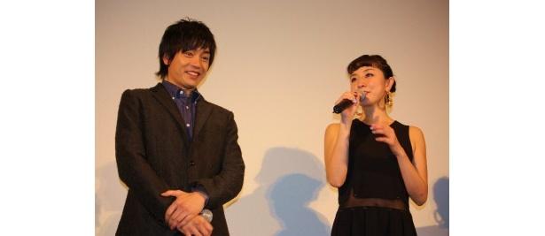 『渾身 KON-SHIN』で共演した伊藤歩と青柳翔