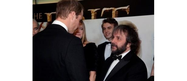 ウィリアム王子とピーター・ジャクソン監督