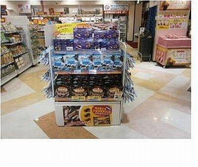わしたショップ国際通り本店では「沖縄塩ココア(SIO cocoa)~クッキーショコラ~」を店頭で大々的にPR