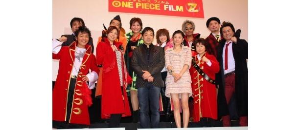 『ONE PIECE FILM Z』の初日舞台挨拶で篠原涼子や香川照之たちが登壇