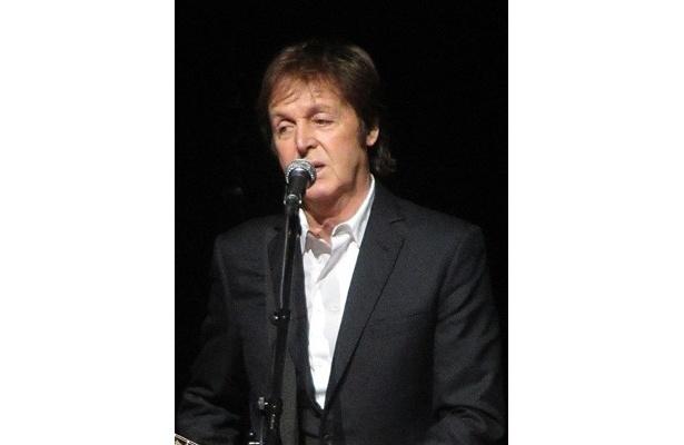 コンサートに参加したポール・マッカートニー
