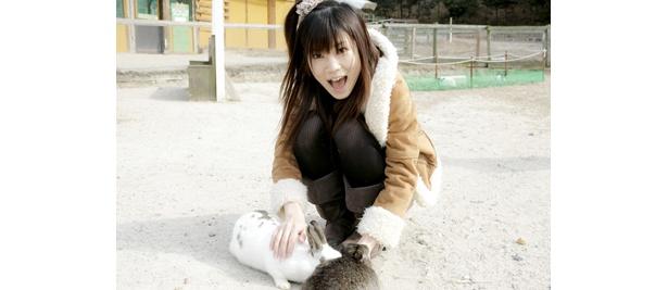 ちょっと怖いウサギに挑戦。でも大丈夫そうだね