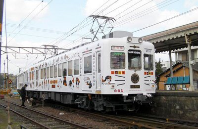 ネコのたま駅長をモチーフにした「たま電車」。3/21(土曜)運行スタート予定!