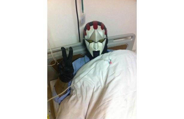 1月4日、緊急入院した練馬のヒーロー・ネクロマン。尿管結石と判明した