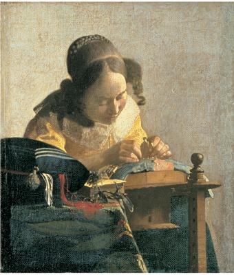 ヨハネス・フェルメール「レースを編む女」1669年〜1670年頃 (C)RMN / (C) Gerard Blot / distributed by DNPartcom