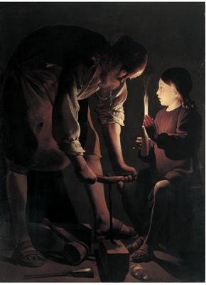 ジョルジュ・ド・ラ・トゥール「大工ヨセフ」1642年頃 (C)RMN / (C)Gerard Blot / distributed by DNPartcom