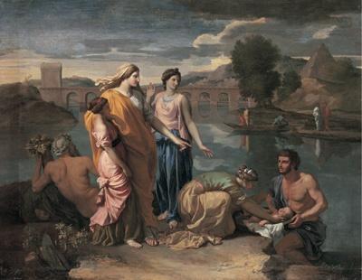ニコラ・プッサン「川から救われるモーセ」1638年 (C)RMN / (C)Daniel Arnaudet / distributed by DNPartcom