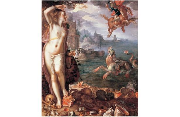 ヨアヒム・ウテワール「アンドロメダを救うペルセウス」1611年 (C)RMN / (C)Daniel Arnaudet / distributed by DNPartcom