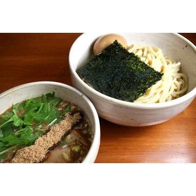 【麺匠ヒムロク】「つけそば」(¥780)。化学調味料不使用のつけ汁は自然なうま味ととろみが。燻製魚粉や特製スパイスなどで独特の深みをかもし出す