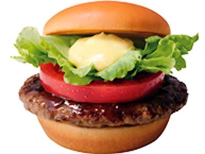 国産肉100%の「とびきりハンバーグサンド トマト&レタス」(420円)