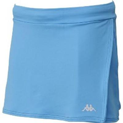「Kappa ランニングスカート」鮮やかなターコイズブルー