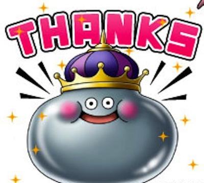 キングメタルの満面の笑みと共に感謝!