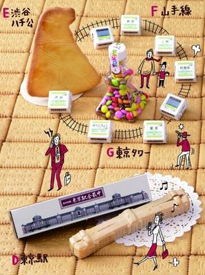 【写真を見る】精密にかたどった「東京駅舎最中」は小さな模型みたい!