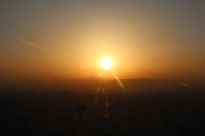 富士山に陽が落ちる……感動の瞬間