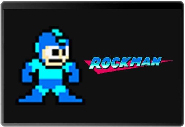 ドット絵でデザインされたロックマン