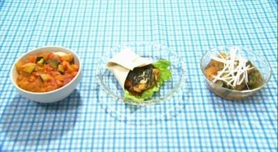 創作レシピコンテスト候補作品「超Lチキ!ミネストローネ茶漬け風ご飯」(あずさん作)、「トルチキ」(ちくわさん作)、「Lチキのみぞれ煮を作ってみた」(れいさん作)