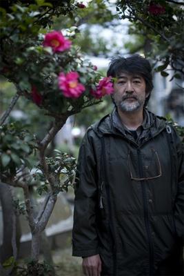 会田誠氏。大阪・心斎橋にて撮影