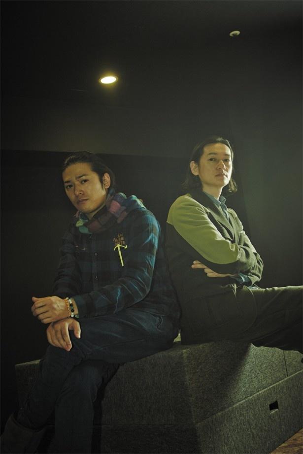 高岡蒼佑(左)と井浦 新(右)。自身のキャリアにおいて若松孝二監督との出会いは大きかったという2人