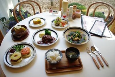 春のメニューは大人気のハンバーグや旬の野菜を使った料理
