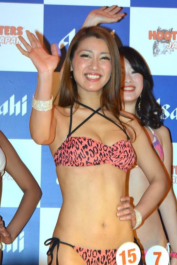 豹柄の水着に着替えたYurikoさん