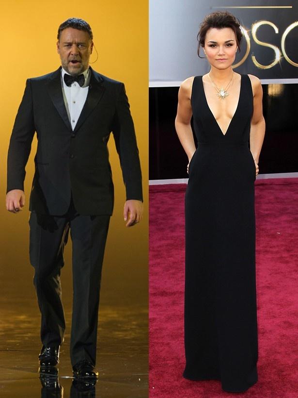 ラッセルは、アカデミー賞の前に「サマンサは、今夜、信じられないほど美しいだろう」とツイートしていた