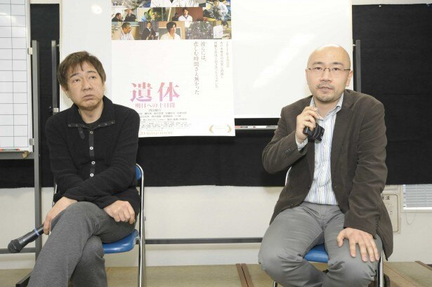 「石井さんの本をありのままに映像化しようと思った」と語る君塚監督(写真左)と原作者石井氏(同右)
