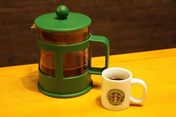 今回コーヒーはフレンチプレスで抽出