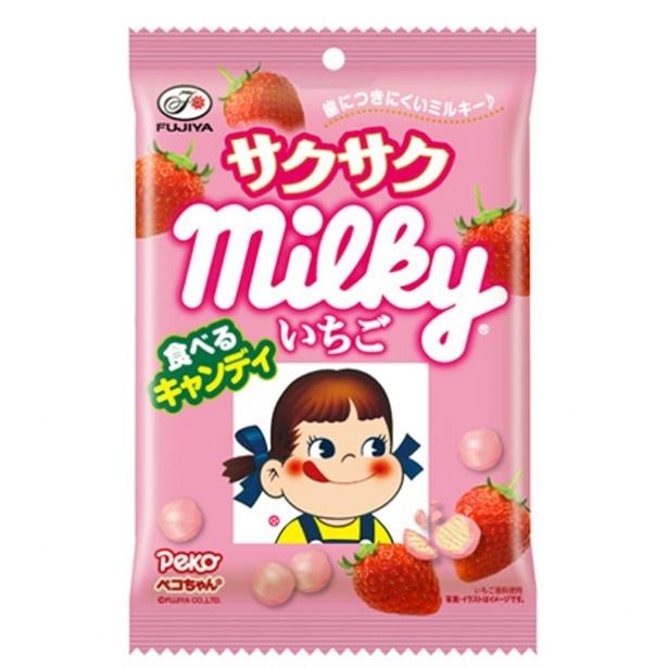 新味「サクサクいちごミルキー袋」(210円)