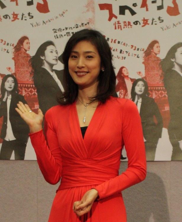 情熱の国・スペインを意識したという赤いドレスで登場した天海祐希