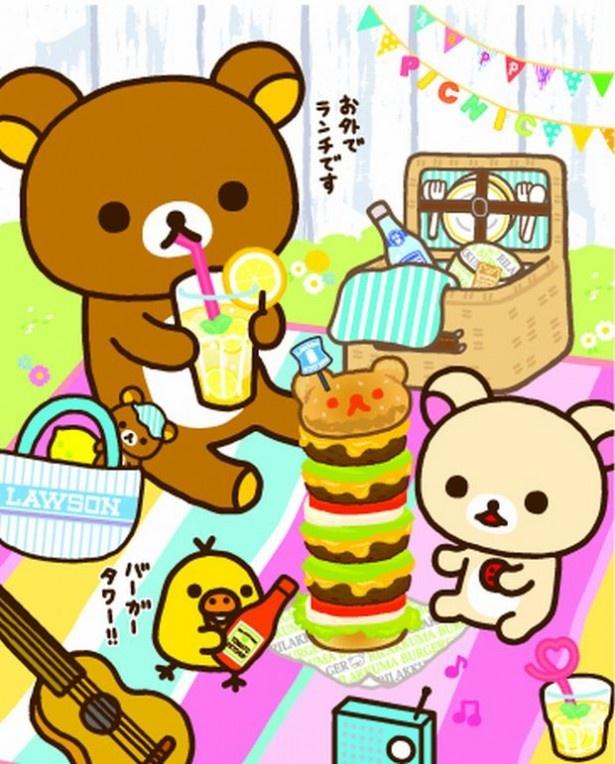 リラックマたちがガーデンピクニック♪「ハッピーピクニックテーマ」