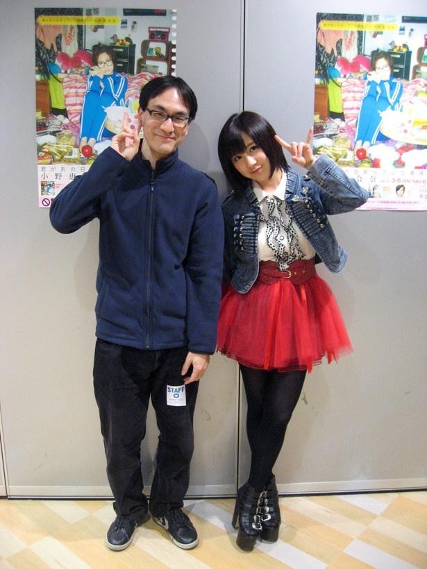 2013年 3月9日、タワーレコード梅田NU茶屋町店にて。