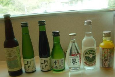 観光特急しまかぜには地ビールやワイン、日本酒、地サイダー、ソフトドリンクなども楽しめる
