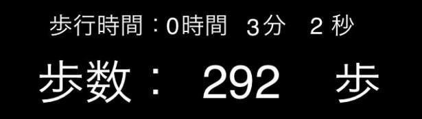 【写真を見る】歩数292歩、歩行時間3分2秒、歩行距離191mという結果に!