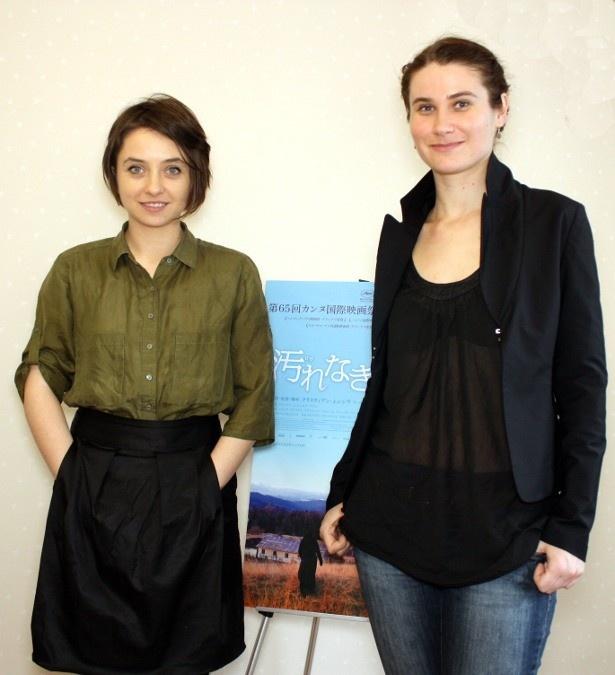 第65回カンヌ国際映画祭で女優賞を受賞したルーマニアの新鋭女優のふたりが来日