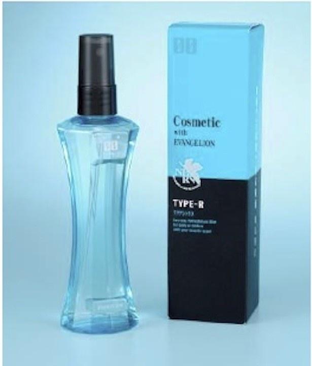 綾波レイをイメージした透明感のある淡いブルーのボトル