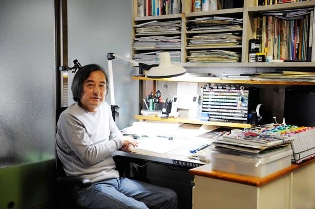「メカニカルデザイン」という仕事を確立した第一人者・大河原邦男氏。『科学忍者隊ガッチャマン』『機動戦士ガンダム』など、名作アニメのメカデザインを手掛ける