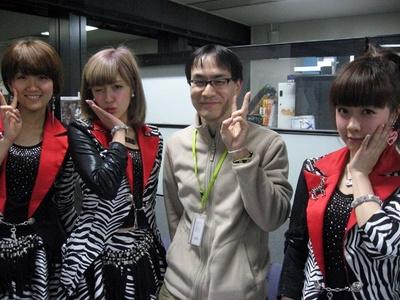 2013年 3月12日、MBSラジオにて。夏焼雅ちゃんのウインクいただきました!