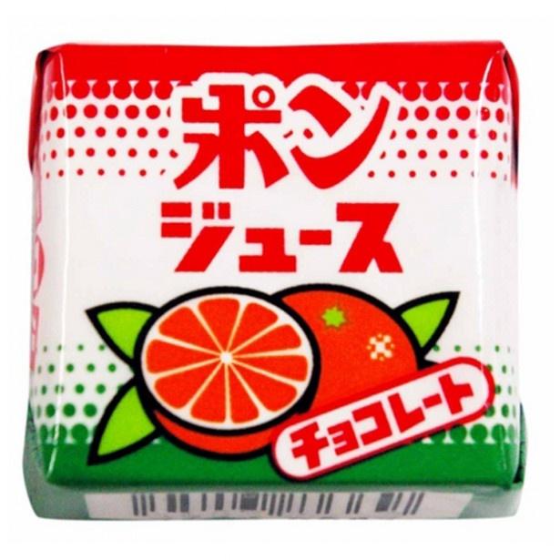 コラボが復活「チロルチョコ(ポンジュース)」(21円)