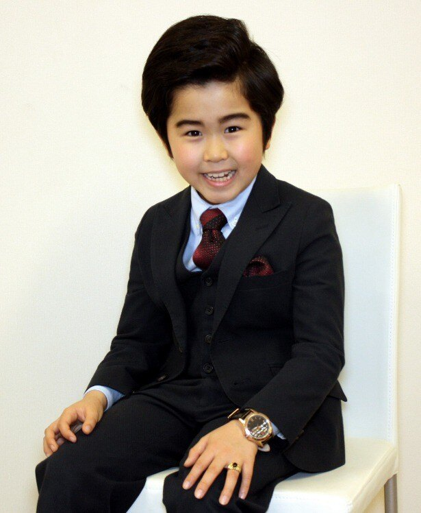 いつもの笑顔モードの鈴木福